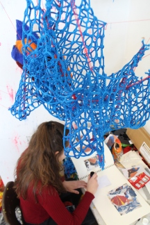 Foundation Students prep for Exhibition (6)
